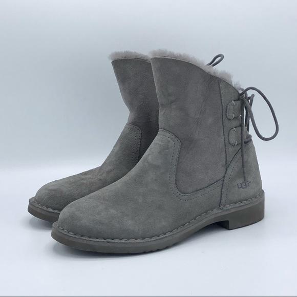 aa9b42ad5e9 UGG Naiyah Lace-Back Genuine Shearling Boot
